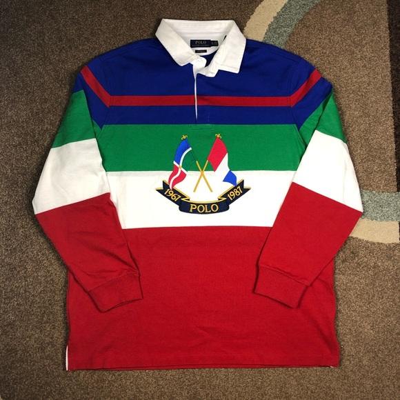 e445cd4d Polo by Ralph Lauren Shirts | Polo Ralph Lauren Cross Flag Rugby Xl ...